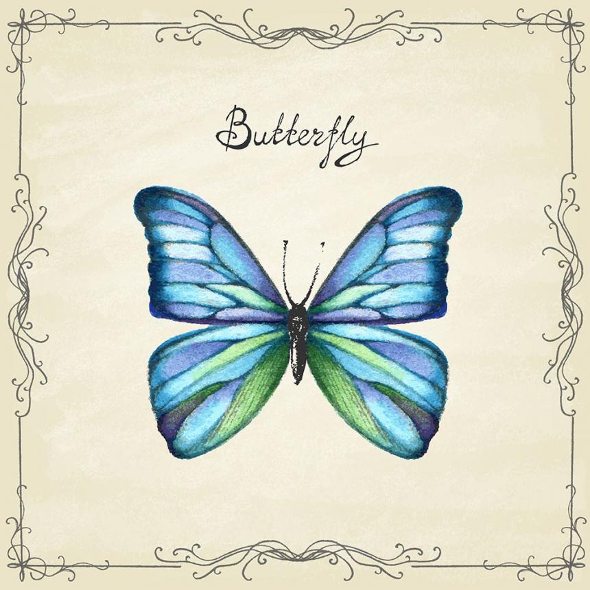 Πίνακας ζωγραφικής Γαλάζια Πεταλούδα