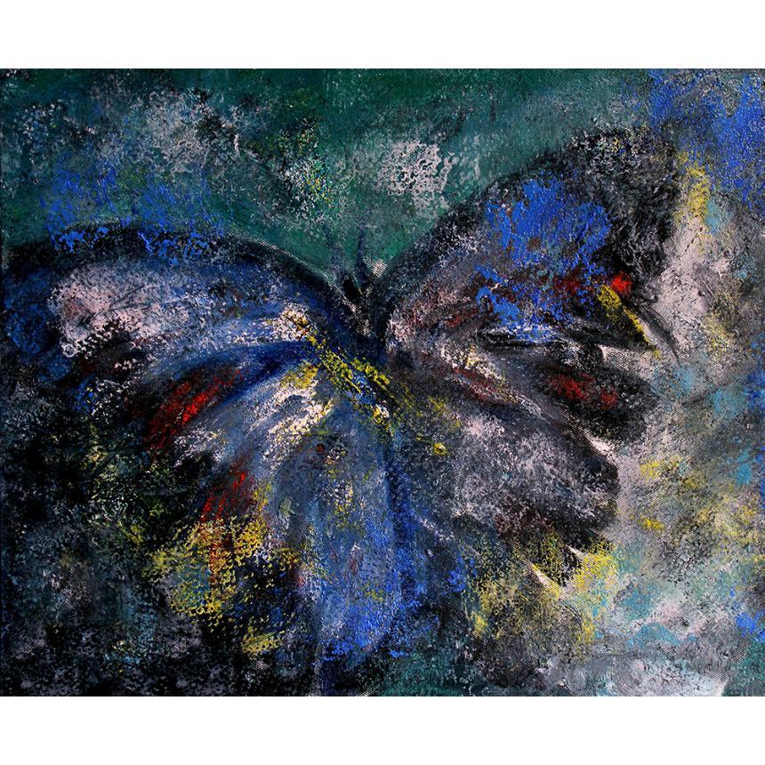Πίνακας Πεταλούδα Abstract blue