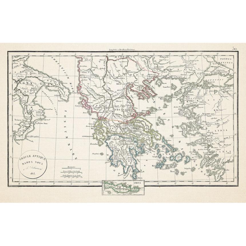 Χάρτης της Ελλάδας 1825
