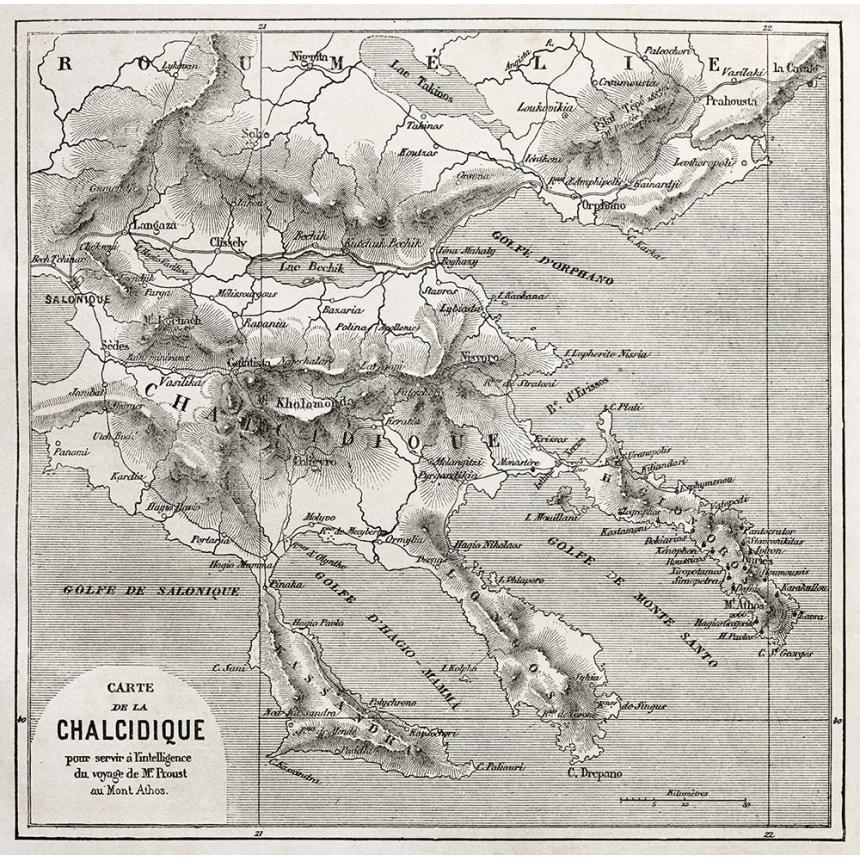 Χάρτης Χαλκιδικής