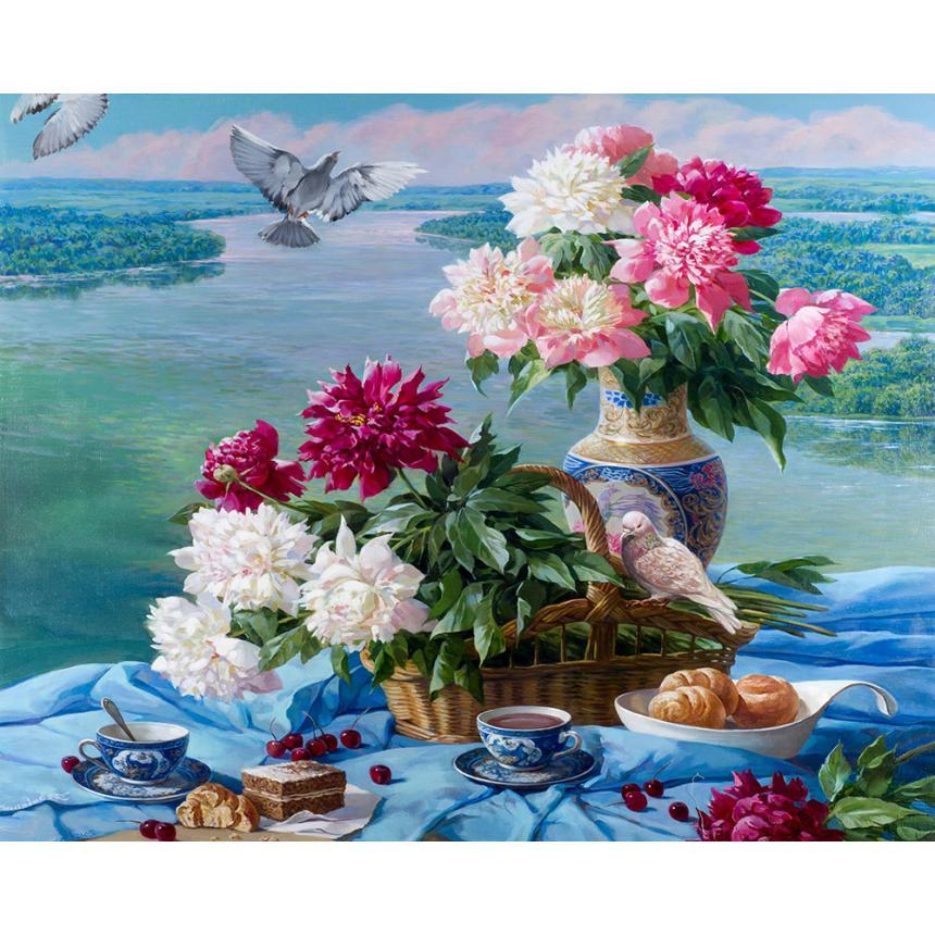 Πίνακας Λουλούδια στο τραπέζι