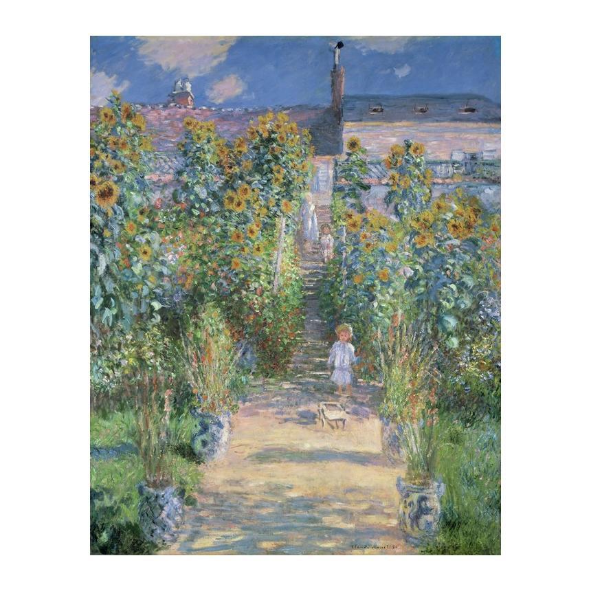 Πίνακας ζωγραφικής Claude Monet Κήπος στη Βεθιούλη