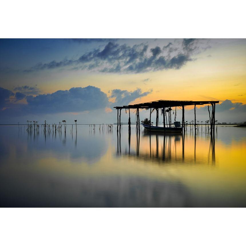 Πίνακας Ηλιοβασίλεμα στη Λίμνη