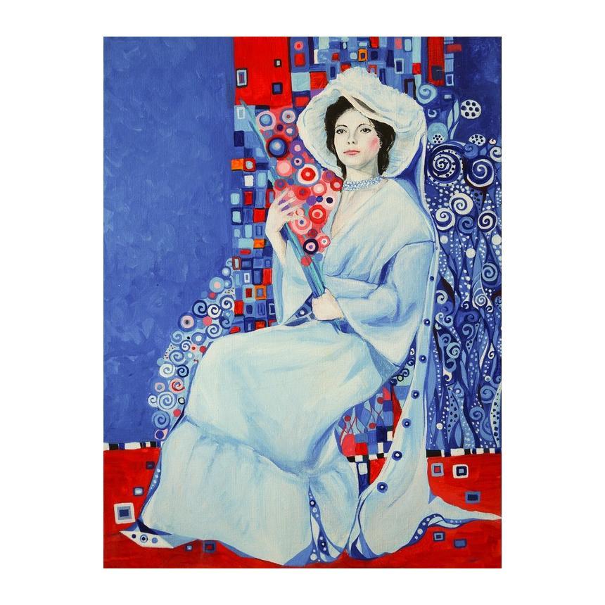 Gustav Klimt Portrait of woman in a white dress