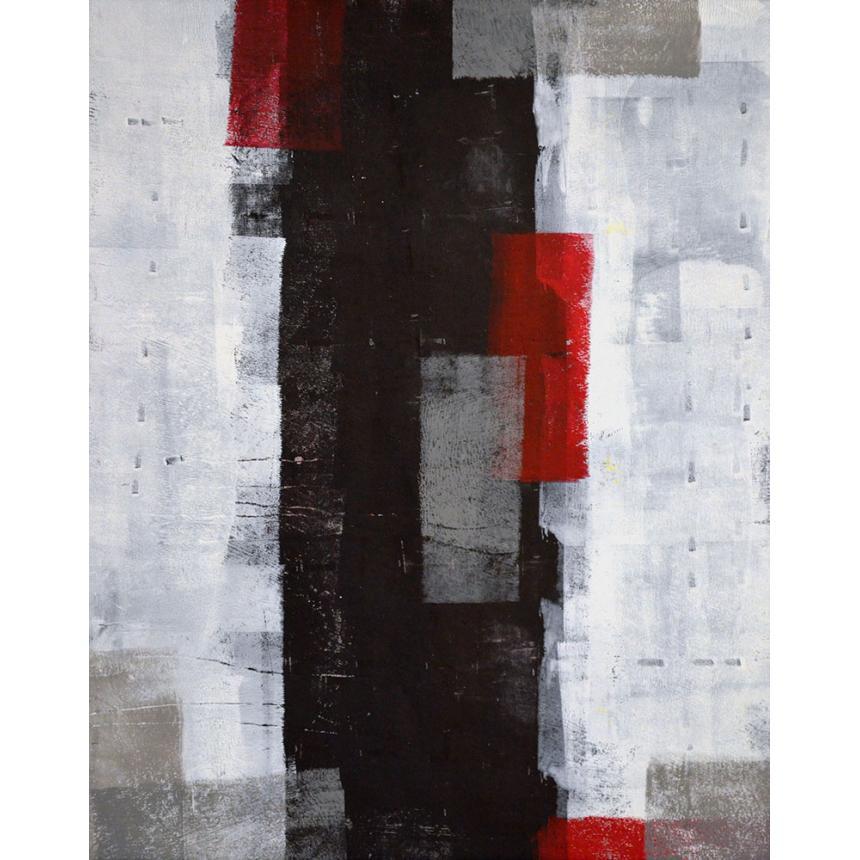 Πίνακας Abstract Κόκκινες Πινελιές