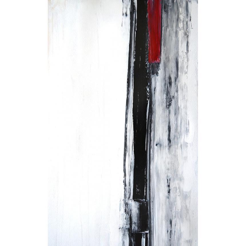 Πίνακας Abstract Λευκό Γκρι