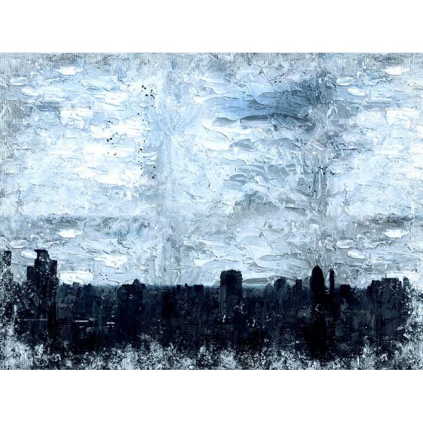 Πίνακας Abstract χειμώνας στην πόλη