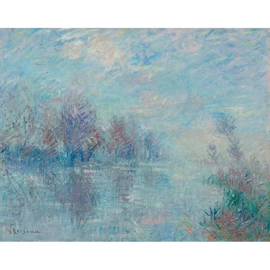 Πίνακας Abstract γαλάζια λίμνη