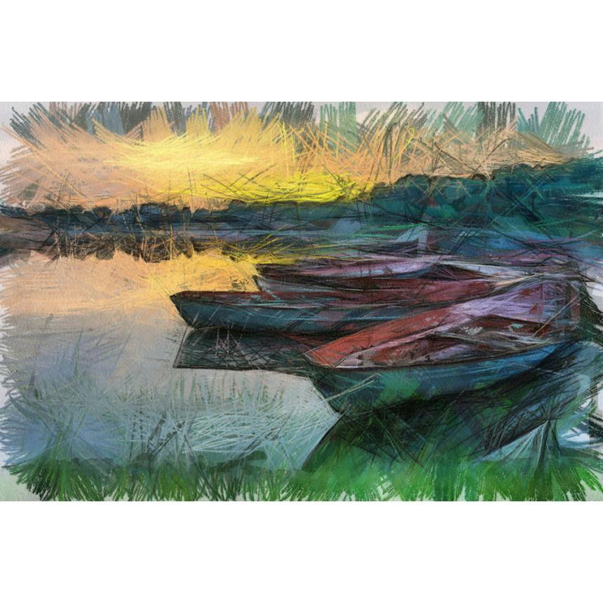 Πίνακας σε καμβά Βάρκες colors
