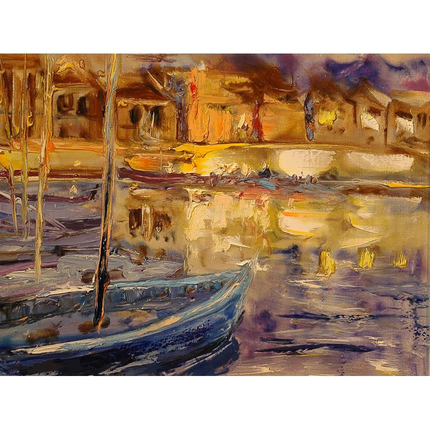Πίνακας ζωγραφικής Λιμανάκι αφηρημένο