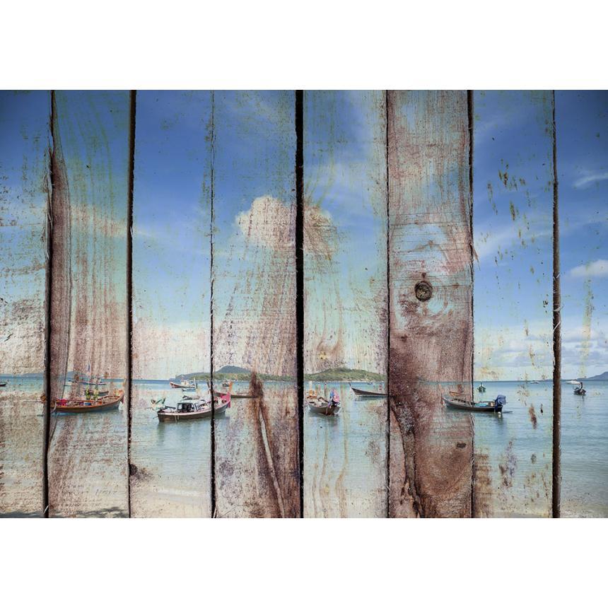 Πίνακας Θάλασσα σε ξύλο