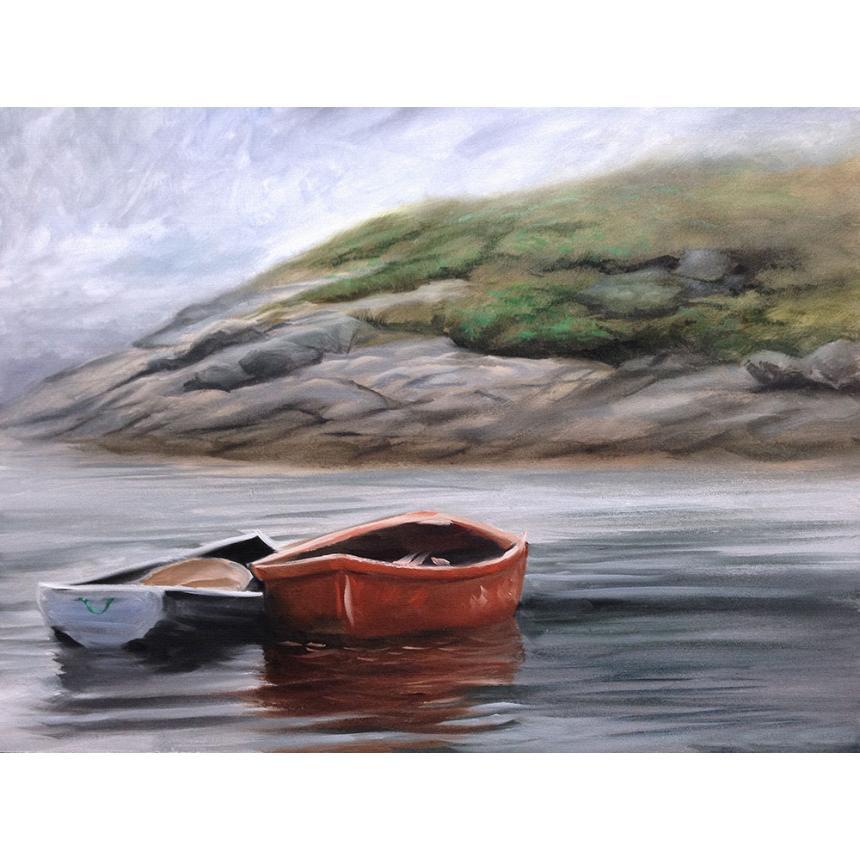 Πίνακας Κόκκινη λευκή βάρκα
