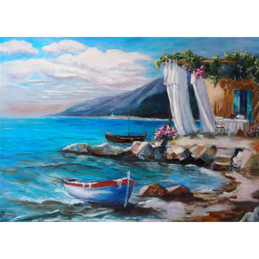 Πίνακας ζωγραφικής Δίπλα στα βράχια