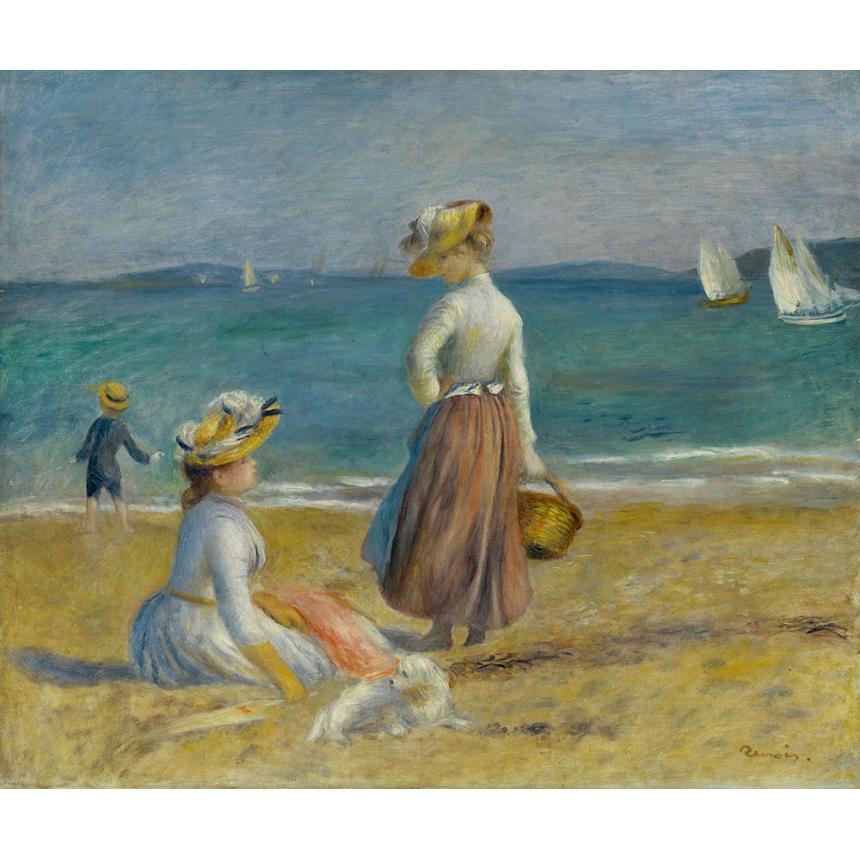 Πίνακας Renoir Φιγούρες στην παραλία