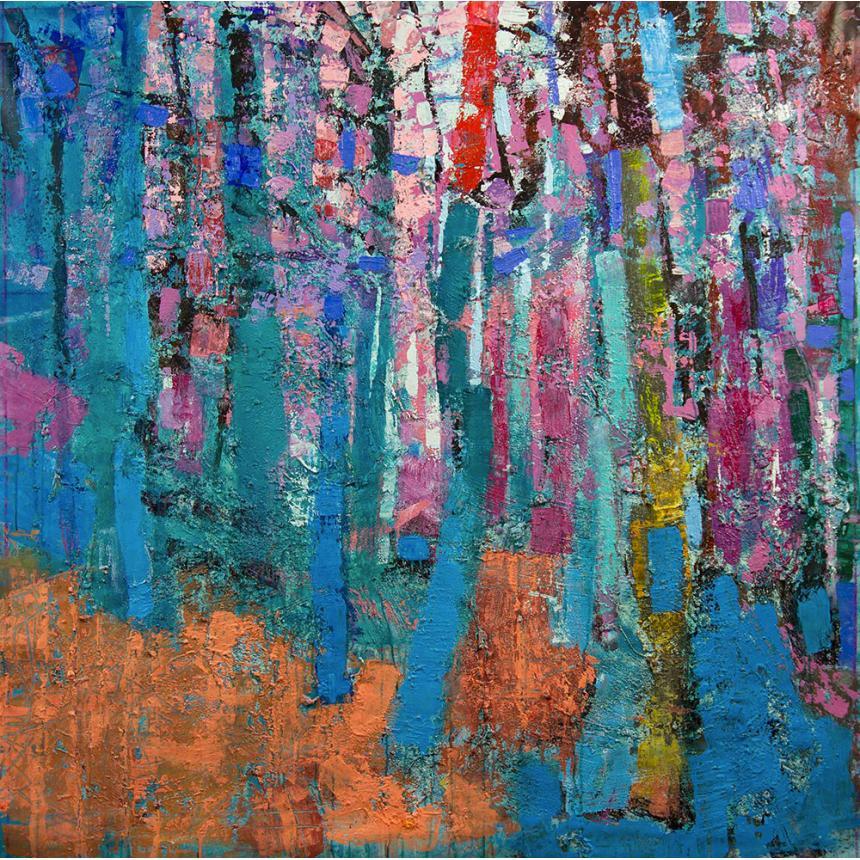 Πίνακας ζωγραφικής Αφηρημένο μπλε