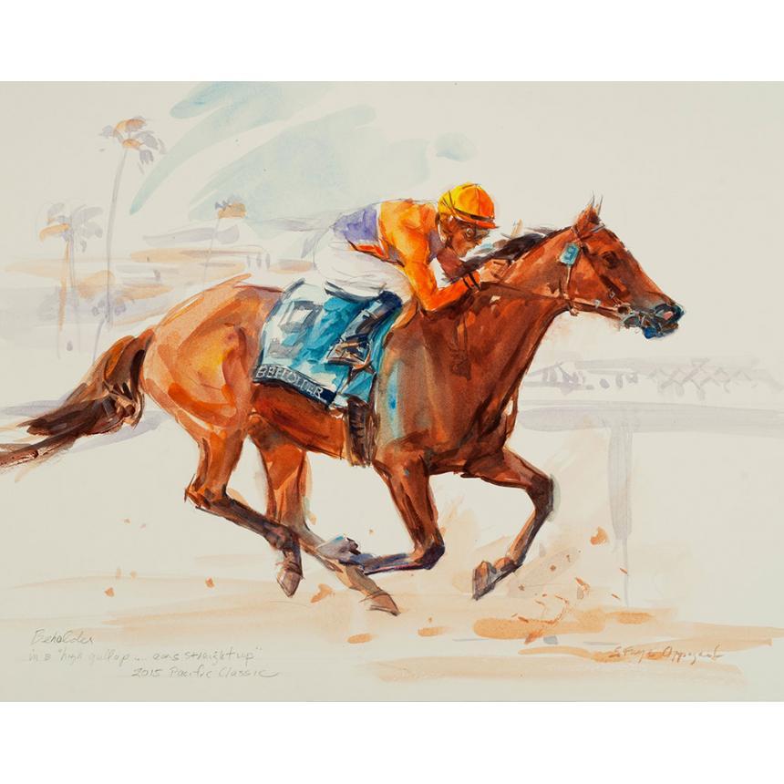 Πίνακας Τρέχοντας με Άλογο