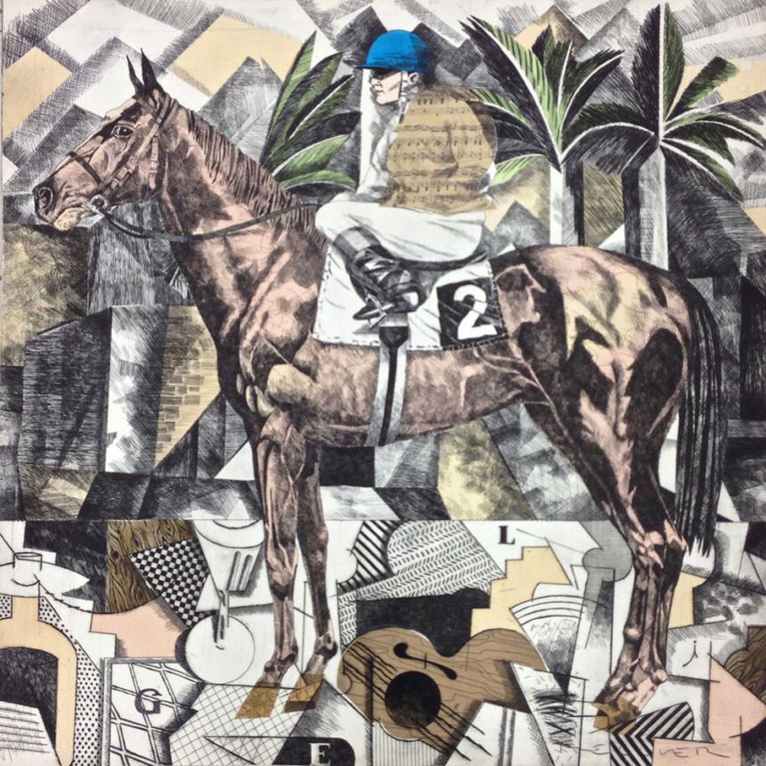 Πίνακας σε καμβά Άλογο 2