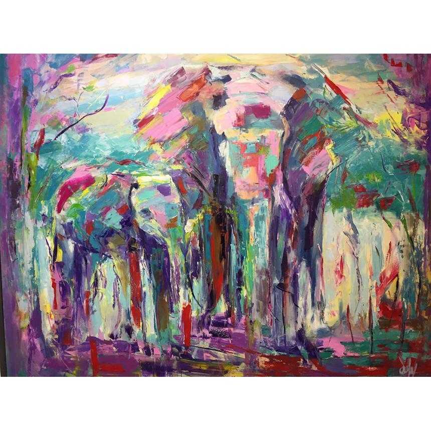 Πίνακας Abstract αφηρημένοι ελέφαντες