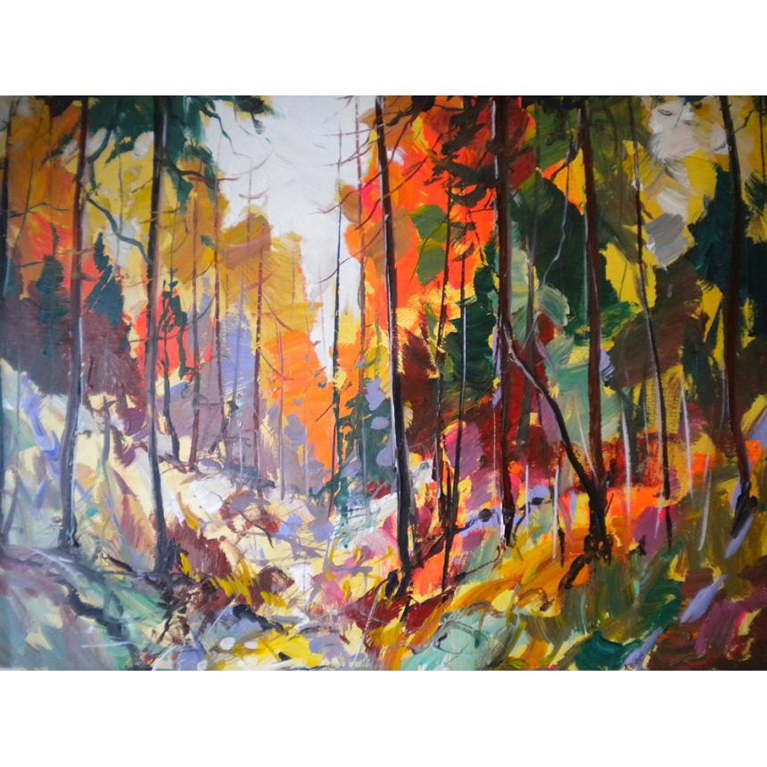 Πίνακας σε καμβά Φθινοπωρινά χρώματα