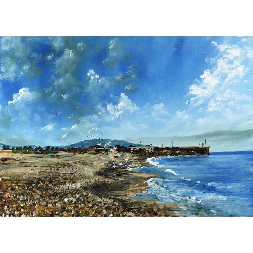 Πίνακας Τοπίο στην παραλία