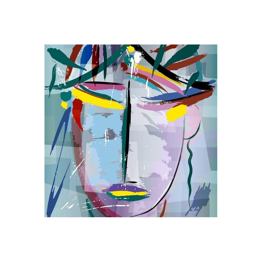Πίνακας με Γυναικείο abstract πρόσωπο