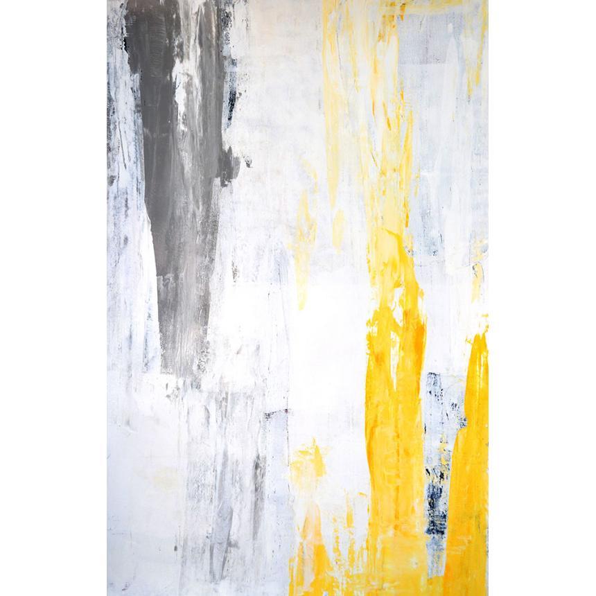 Πίνακας Abstract κίτρινη πινελιά
