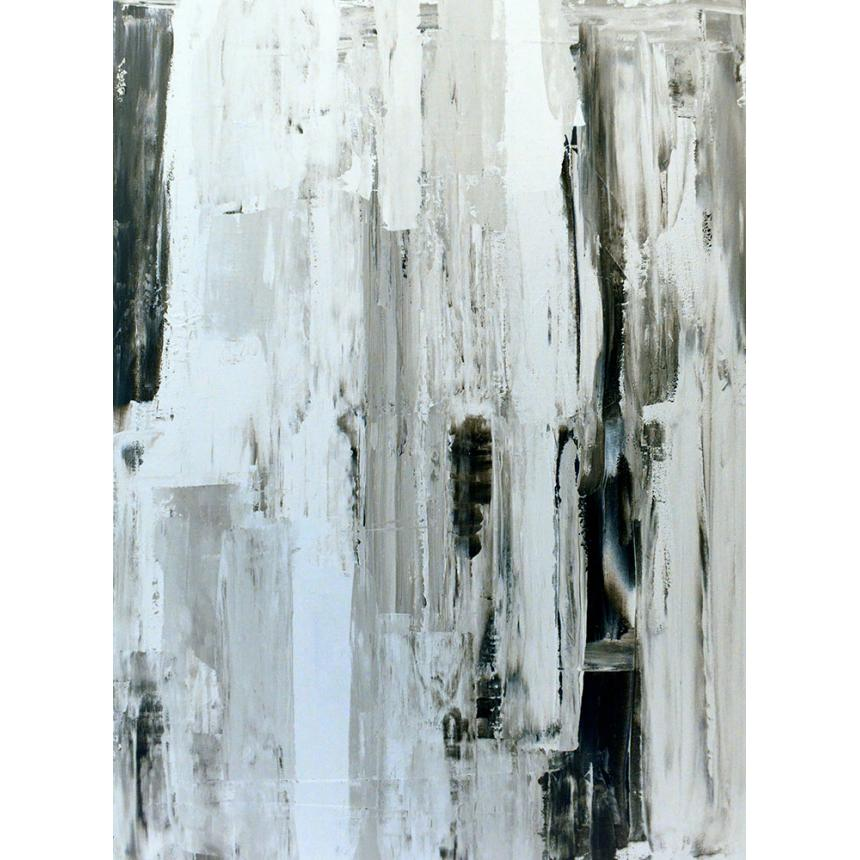 Πίνακας Abstract πινελιές του γκρι