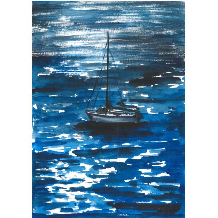 Πίνακας ζωγραφικής Γαλάζιος ορίζοντας