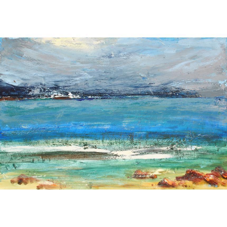 Πίνακας abstract παραλία