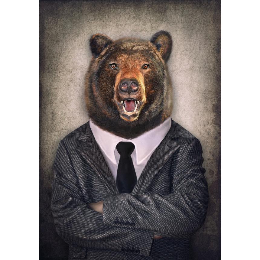 Πίνακας Αρκούδα με κοστούμι
