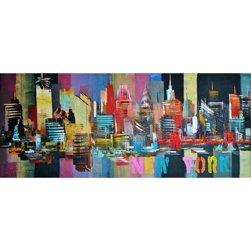 Πίνακας ζωγραφικής NY με χρώματα