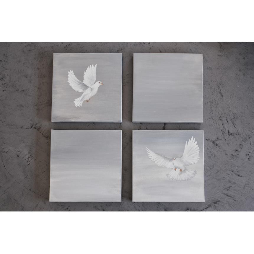 Πίνακας Λευκά περιστέρια