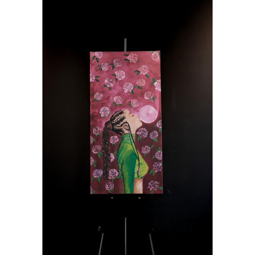 Πίνακας ζωγραφικής κοριτσάκι με φούσκα