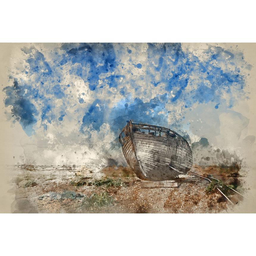 Πίνακας Βάρκα Watercolour 1