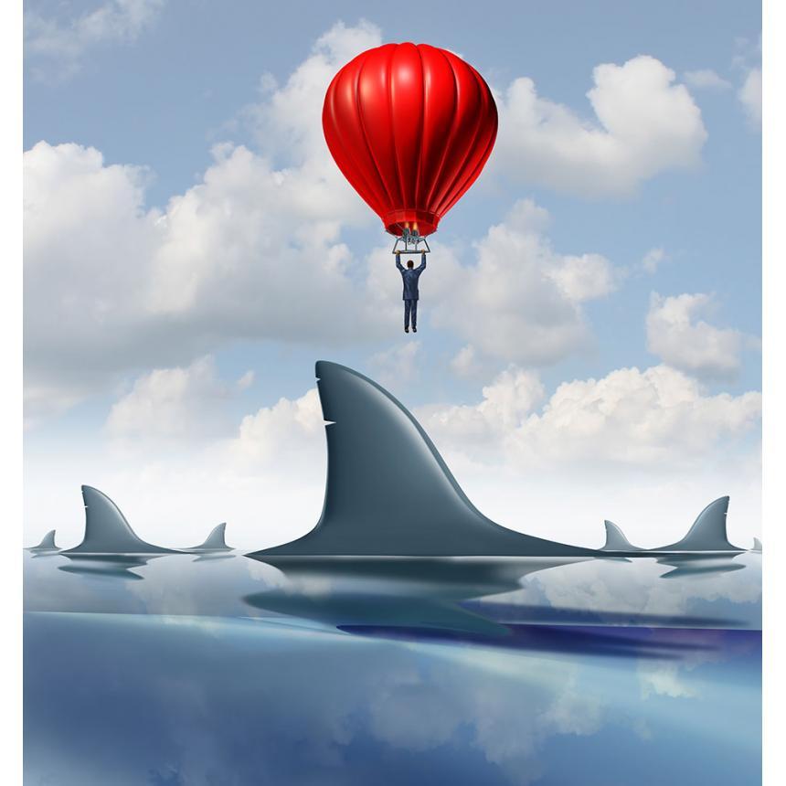 Πίνακας Αερόστατο & Καρχαρίες