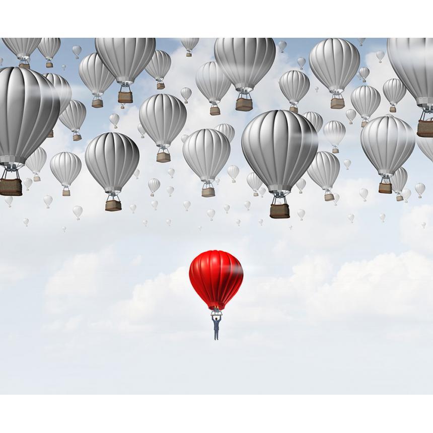 Πίνακας Κόκκινο αερόστατο
