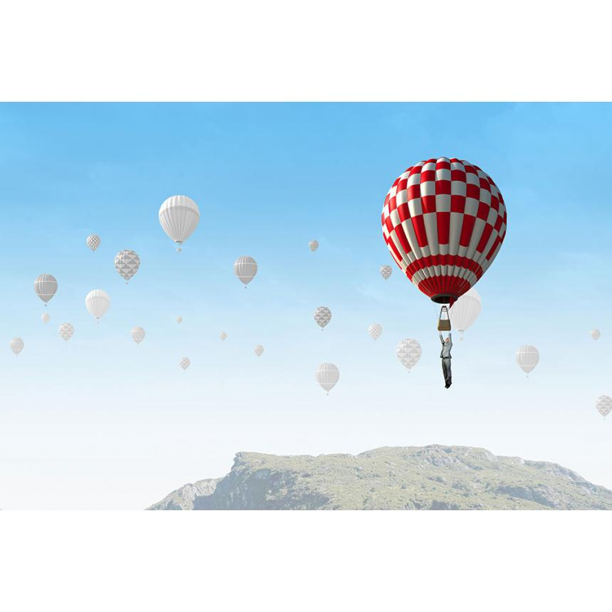 Πίνακας Αερόστατο κόκκινο - άσπρο