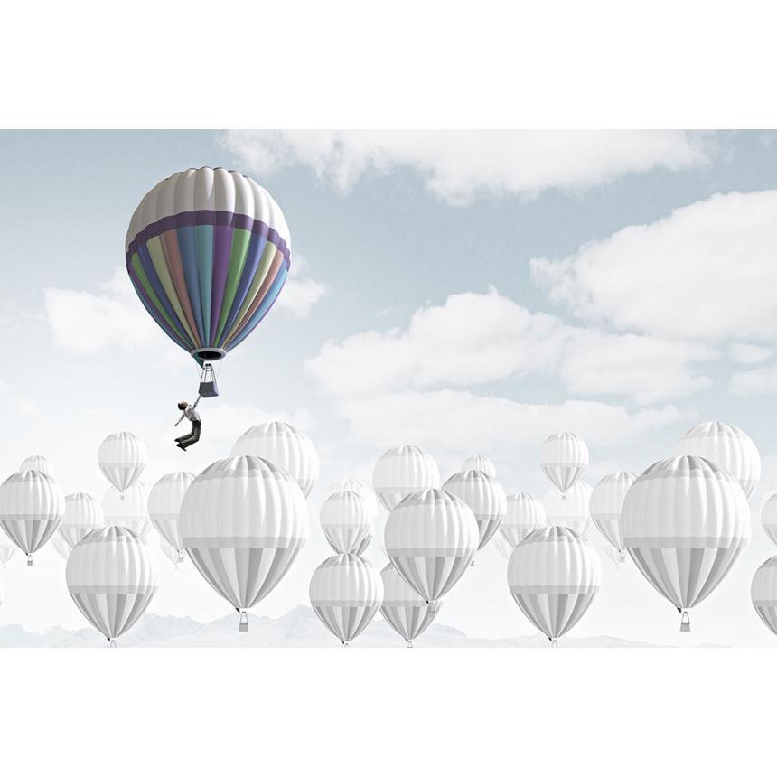 Πίνακας σε καμβά Αερόστατο πολύχρωμο