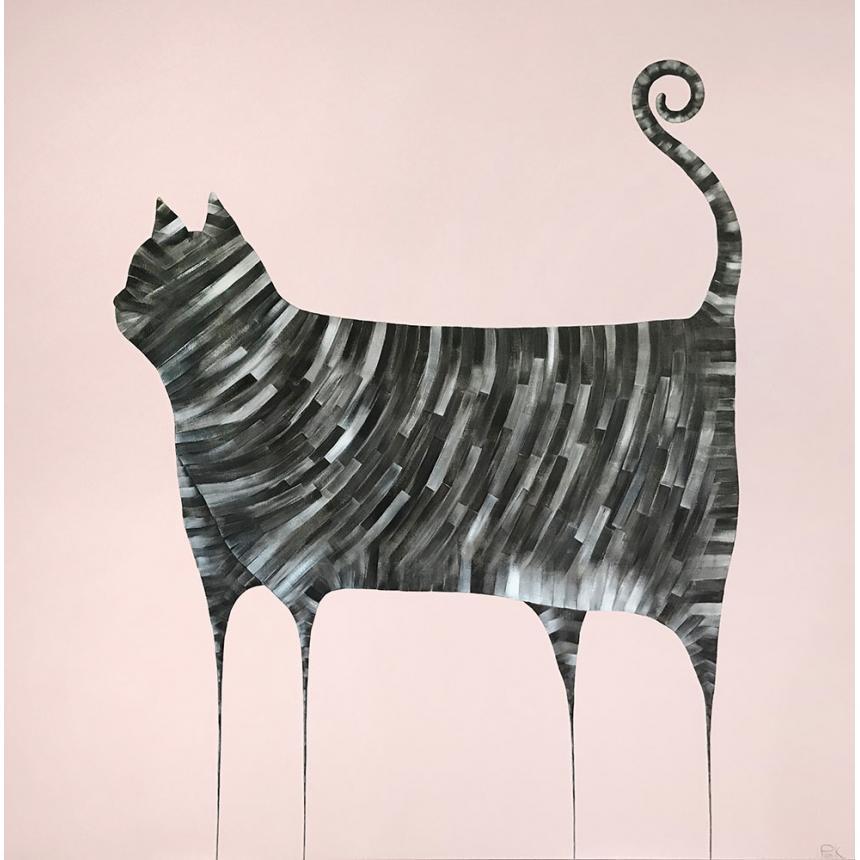 Πίνακας σε καμβά Γάτα