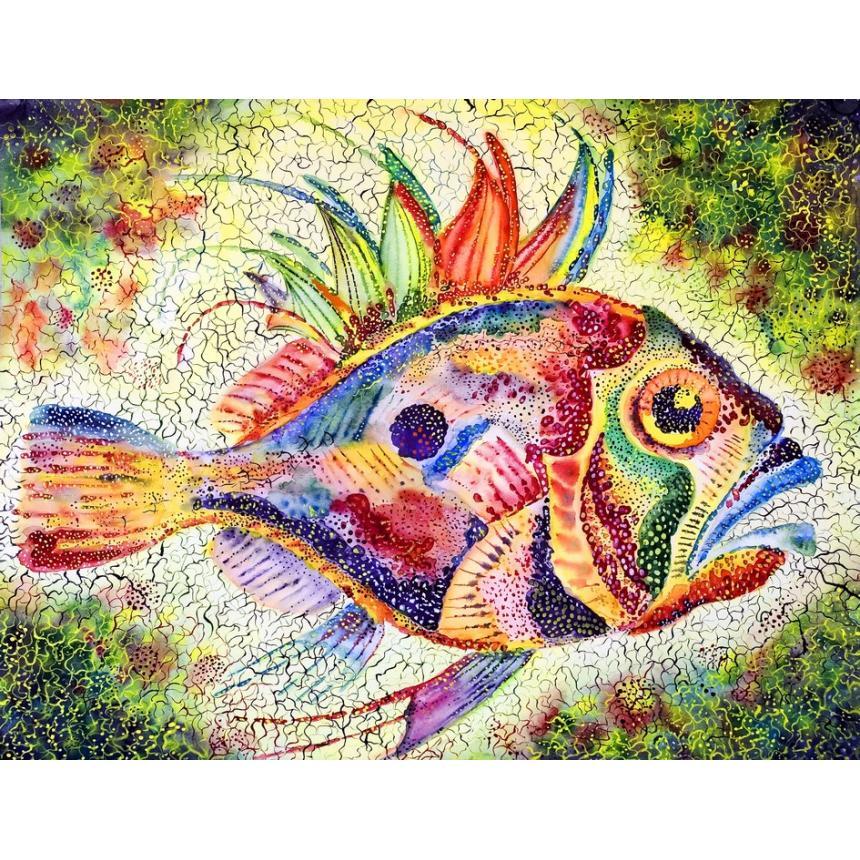 Πίνακας Ψάρι multicolor