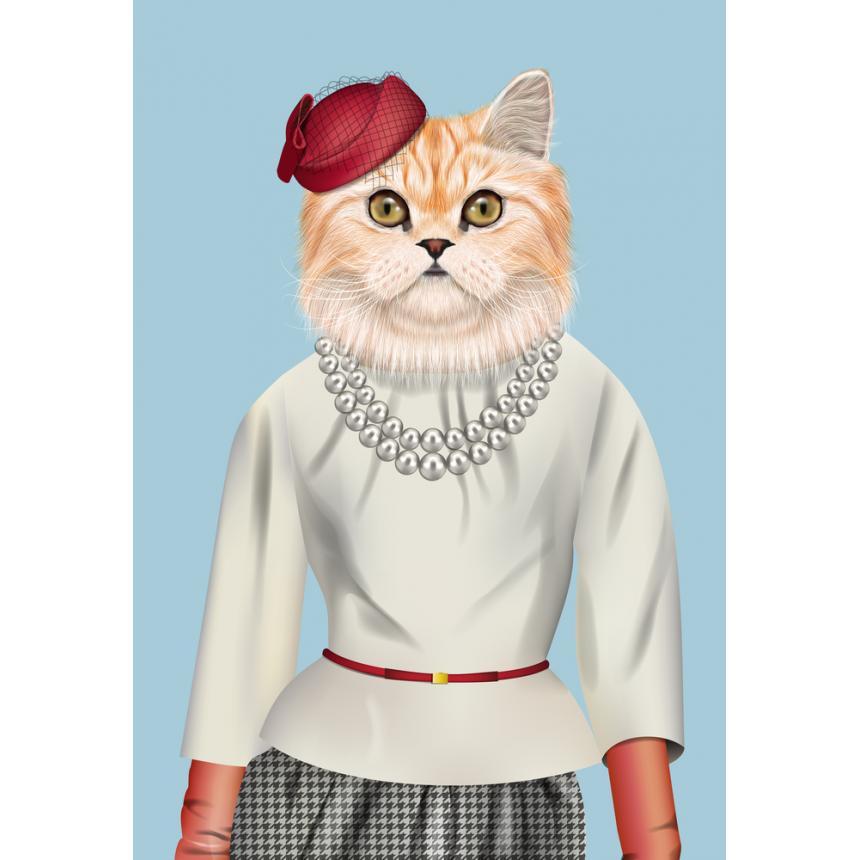 Πίνακας Γάτα ανθρωπόφορφη με κολιέ