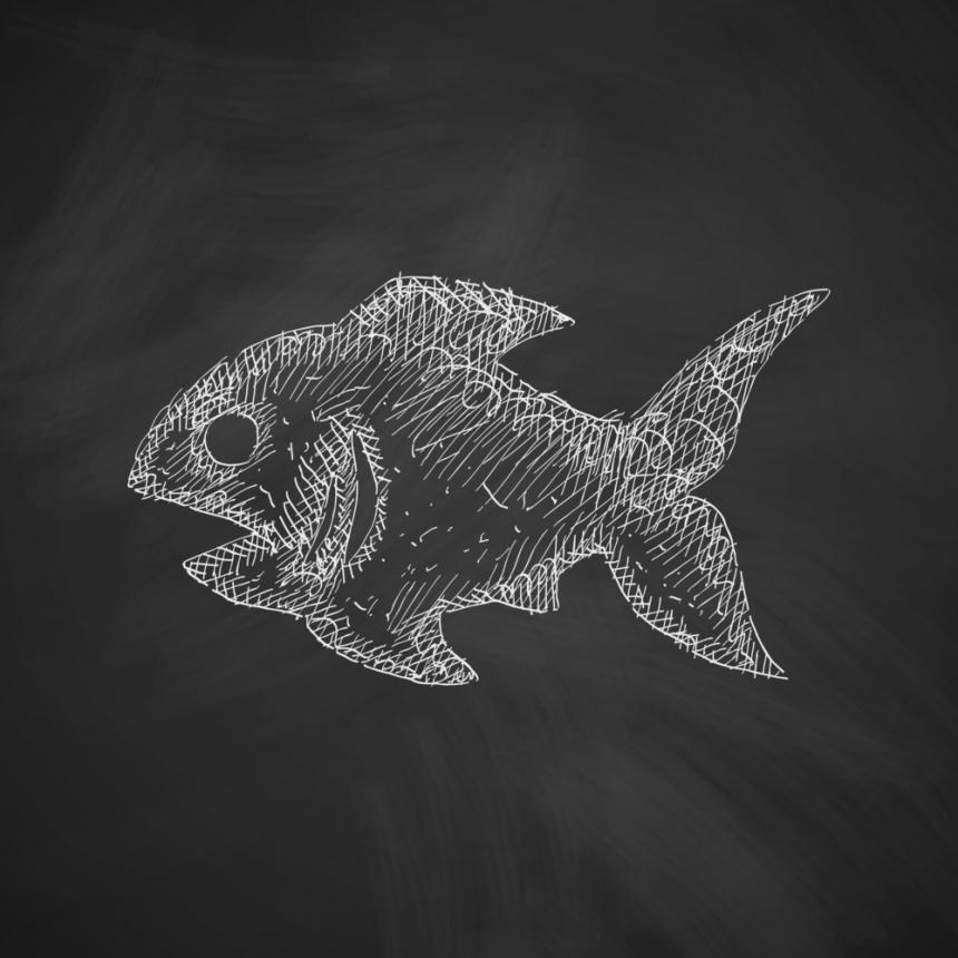 Πίνακας Ψάρι κιμωλίας
