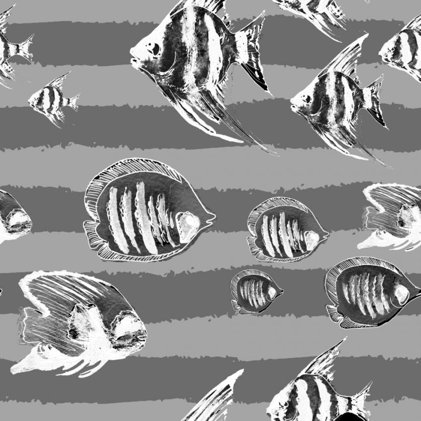 Πίνακας Ψάρια b/w