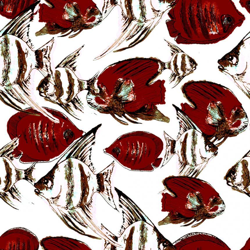 Πίνακας Κόκκινα ψάρια
