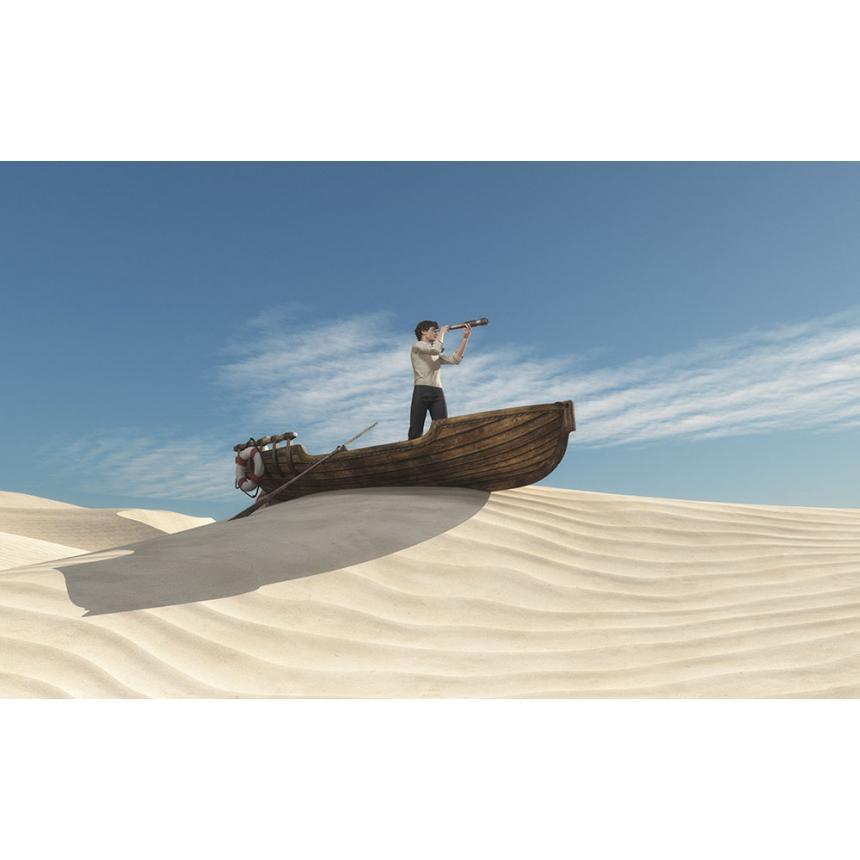Άντρας στην έρημο