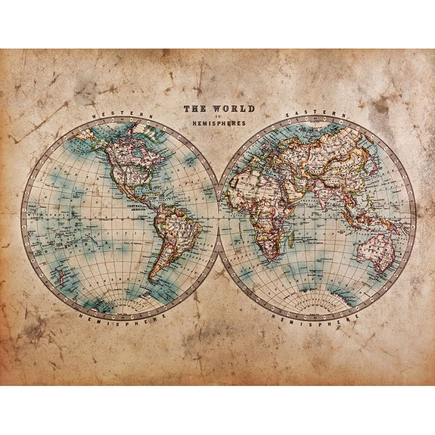 Παγκόσμιος χάρτης ημισφαίρια
