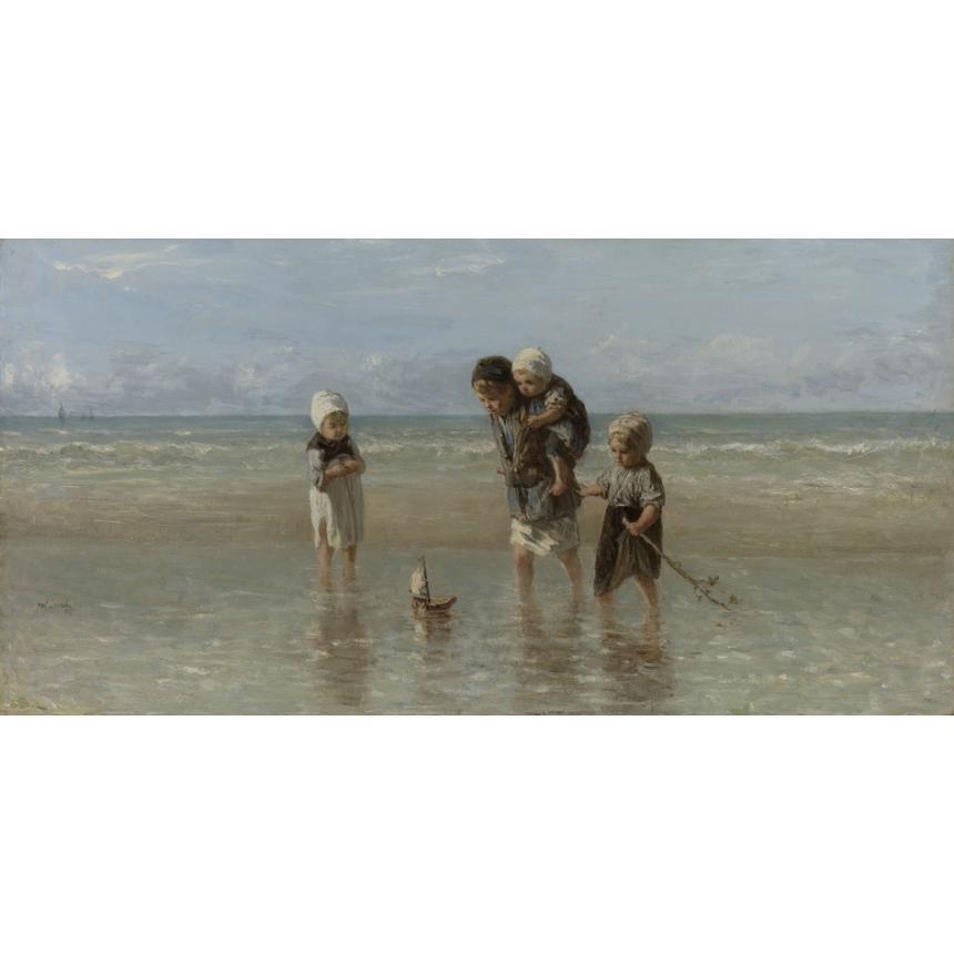 Πίνακας ζωγραφικής Παιδιά στη θάλασσα