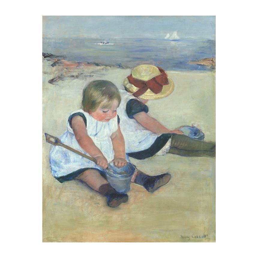 Πίνακας Παιδιά που παίζουν στην παραλία