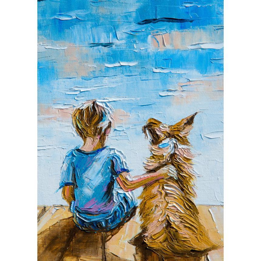 Πίνακας Παρέα με το σκύλο