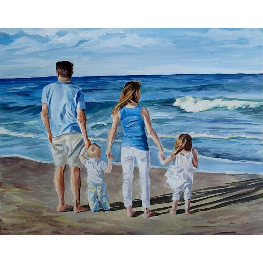 Πίνακας Οικογένεια στη θάλασσα